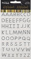 シルバーメタルアルファベットスクラップブックステッカー( 2055)
