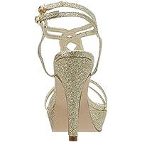 Dyeables Women's Vivi SandalGold Glitter9.5 B US [並行輸入品]