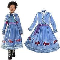 b8be68098a29b dingmi アナと雪の女王 子供用 エルサ 風 ドレス アナ エルサ コスプレ コスチューム衣装