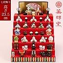 薬師窯 雛人形 錦彩花かざり雛(七段飾り) (2523)|upup7