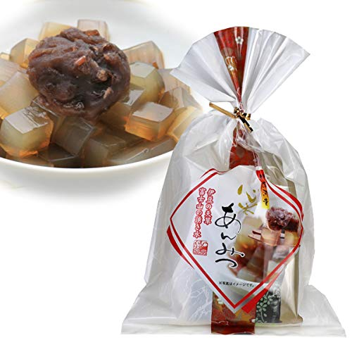 伊豆河童 黒蜜あんみつ 北海道最中餡 沖縄産黒糖100%黒蜜 使用 角切りところてん