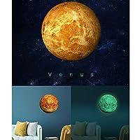 Anyutai 惑星の壁紙発光ウォールステッカー新しい30 * 30センチメートル惑星パターンの寝室の家の装飾絵画 - >金星