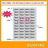 FBAラベル 白 自己粘着 配送郵便用ステッカー レーザー/インクジェットプリンター用 FBA要件に準拠 44-UP