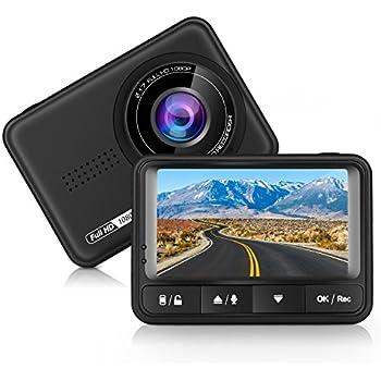 Panlelo D4車のドライビングレコーダー HD 170度広角ダッシュボードカメラレコーダーHD 1080P 車DVRのGセンサーとループ録音