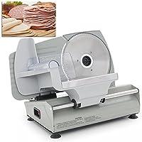 DELLA 7.5-Inch Electric Deli Meat and Vegetable Slicer, Small - Silver (048-GM-48087) by DELLA