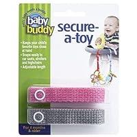 ベビーバディ おもちゃストラップ2色各1本組 ピンク/グレー(2本入) ベビー&キッズ おでかけ用品 おでかけ小物 [並行輸入品] k1-47414001575-ak