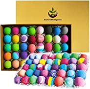 Natural Bath Bombs Gift Set - 40 Large Nurture Me Organic Bath Bombs for Women Men & Kids! Infused with Es