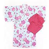 浴衣 子供 セット キッズ ベビー ドレス サンドレス セパレート 花柄 帯セット Pinky Flash パープル 90cm 3357090607PU90