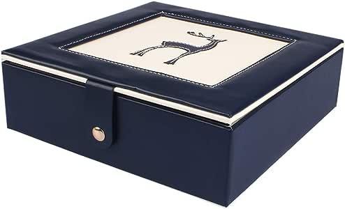 ジュエリーボックス 二層アクセサリーケース 大容量 小物入れ宝石箱 取っ手付き 王女ジュエリーボックス (blue)