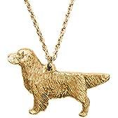 ゴールデンレトリバー イギリス製 アート ドッグ ペンダント ネックレス コレクション