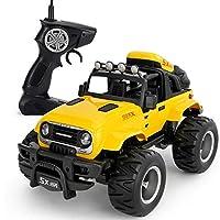 黄色の全地形オフロード車車両サンドレースカークローラー玩具リモートコントロール電気玩具車車RC RTRスーパースポーツモデル1:14スケールRcモンスターレーシングトラック充電式Powerf