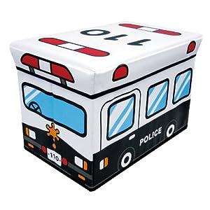 ユーカンパニー U-company ストレージボックス スツール パトカー 耐荷重80kg 座れる収納ボックス