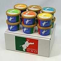 愛媛産ジェラート6種類12個 詰め合わせ アイス ギフト 栗 デコポン 七折小梅 愛南ゴールド ブラッドオレンジ ミルク