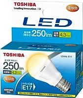東芝 E-CORE(イー・コア) LED電球 ミニクリプトン形 4.3W (密閉器具対応・フィンレス構造・口金直径17mm・小形電球25W相当・250ルーメン・電球色) LDA4L-E17