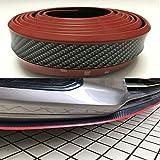 AUNAZZ/リップスポイラー炭素繊維2.5メートルの車のフロントリップ バンパーに保護、傷から守ります レッドライン