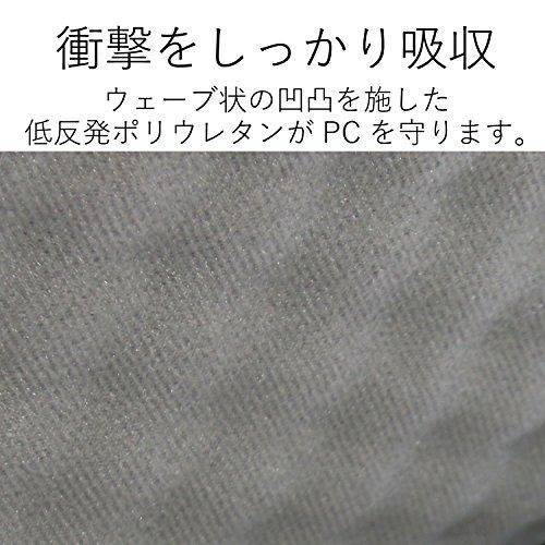 『エレコム インナーバッグ ノートパソコンケース 保護ケース 衝撃吸収 ZEROSHOCK スリム(iPad pro12.9/surfacePro2017・4・3) ZSB-IBUB03BK』の4枚目の画像
