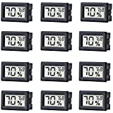 TAIWEI 12 Pack Mini Small Digital Electronic Temperature Humidity Meters Gauge Indoor Thermometer Hygrometer LCD Display Fahr