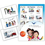 Take a Trip Flashcards in German Language - Flash Cards with Matching Bingo Game for Toddlers, Kids, Children and Adults - Size 4.13 × 5.83 in - DIN A6