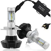 Autofeel Ledヘッドライトバルブ H4 9003 6500K 8000LM Lumileds led チップ採用 Hi Lo切り替え 光軸調整可能 ファンレス 一体型 精確配光 車検対応 簡単取り付け 1年保証(H4)