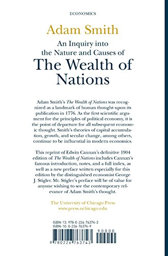 an analysis of the wealth of nations a book on political economy by adam smith Adam smith and the rise of classical political economy adam smith and the rise of classical political economy such as the wealth of nations.