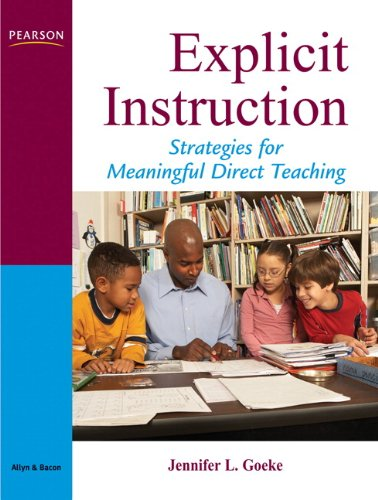 Download Explicit Instruction: Strategies for Meaningful Direct Teaching 0205533280