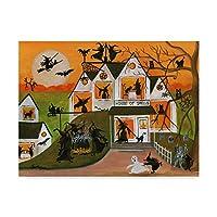 Trademark Fine Art Cheryl Bartley作ハロウィーン魔女の呪文 24 x 32インチ ファインアート マルチカラー