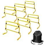 トレーニングハードル 高さ調節可能 6個セット (黄色) 持ち運びに便利な収納バッグ付き