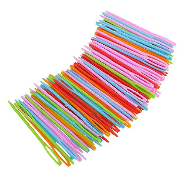 100本 クロスステッチ編み カシミア製品用 太い針 縫い針 カラフル棒針 プラスチック製
