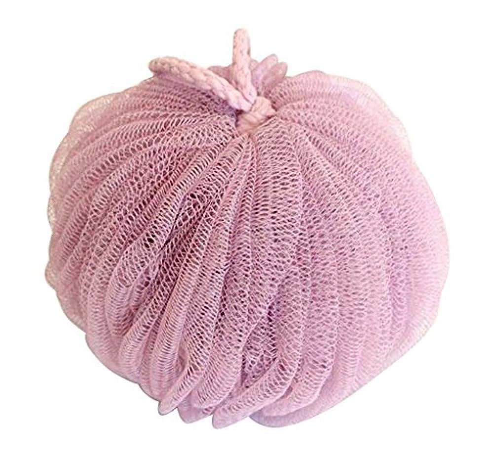 無駄な致命的な地殻花弁バスボールファインメッシュブリスター増粘バスバターフラワー、ピンク