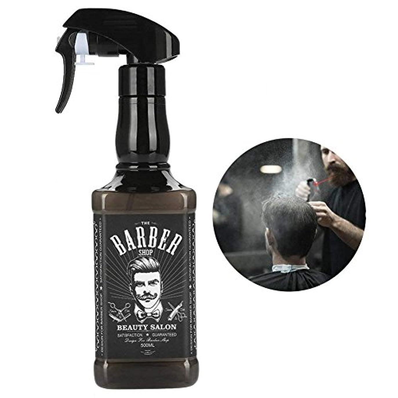 自転車高音アンカー理髪スプレーボトル、500ミリリットルプラスチック理髪スプレーボトルサロン理容髪ツール水スプレー(黒)