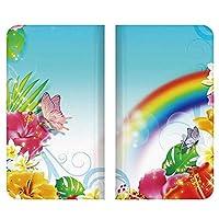 au サムスン Galaxy S8 (SCV36) 高品質手帳 ベルトなし 手帳型ケース 手帳型カバー スライド式スマホケース 完全受注生産 サマー 夏 海 ビーチ ハワイ 008