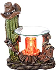 Western Candle Warmer – Cactus &ブーツ – カウボーイ帽子& Gunポリレジン – Fragrance Oil Warmer And Diffuser – CandleタルトMelter ...