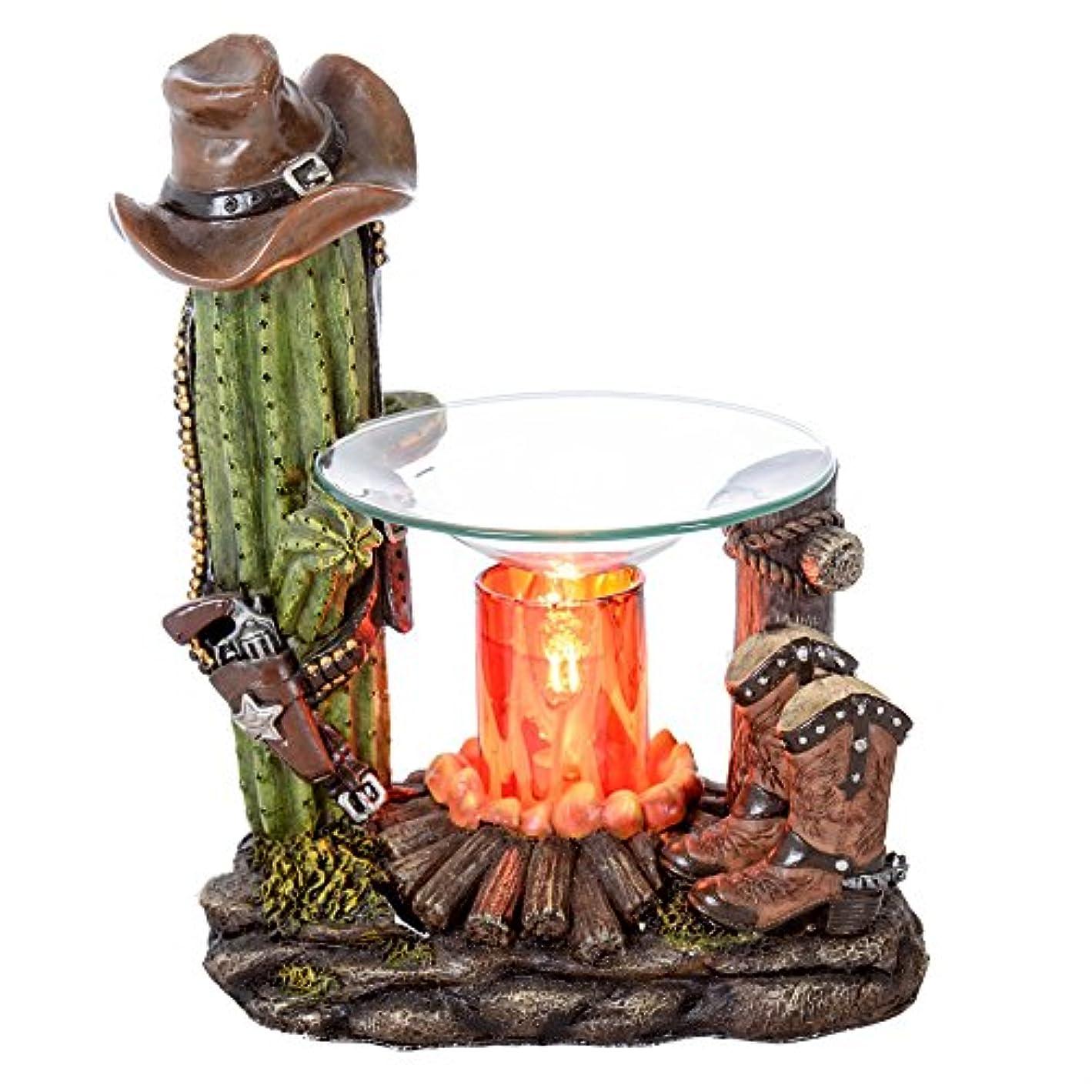 暴行鷲先生Western Candle Warmer – Cactus &ブーツ – カウボーイ帽子& Gunポリレジン – Fragrance Oil Warmer And Diffuser – CandleタルトMelter ...