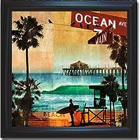 Ocean Avenue by Charlie Carterプレミアムsatin-black Framedキャンバス( ready-to-hang )