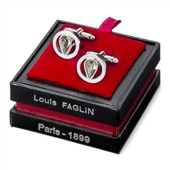 (ルイ・ファグラン社) Louis FAGLIN ヴィンテージスワロフスキー・カフリンクス ブラックダイヤモンド