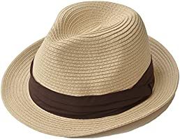 nakota(ナコタ) ミックスペーパーハット メンズ レディース 麦わら帽子 折りたたみ パナマ帽 麦わらハット 春夏 帽子 中折れ ハット リボン ラ…