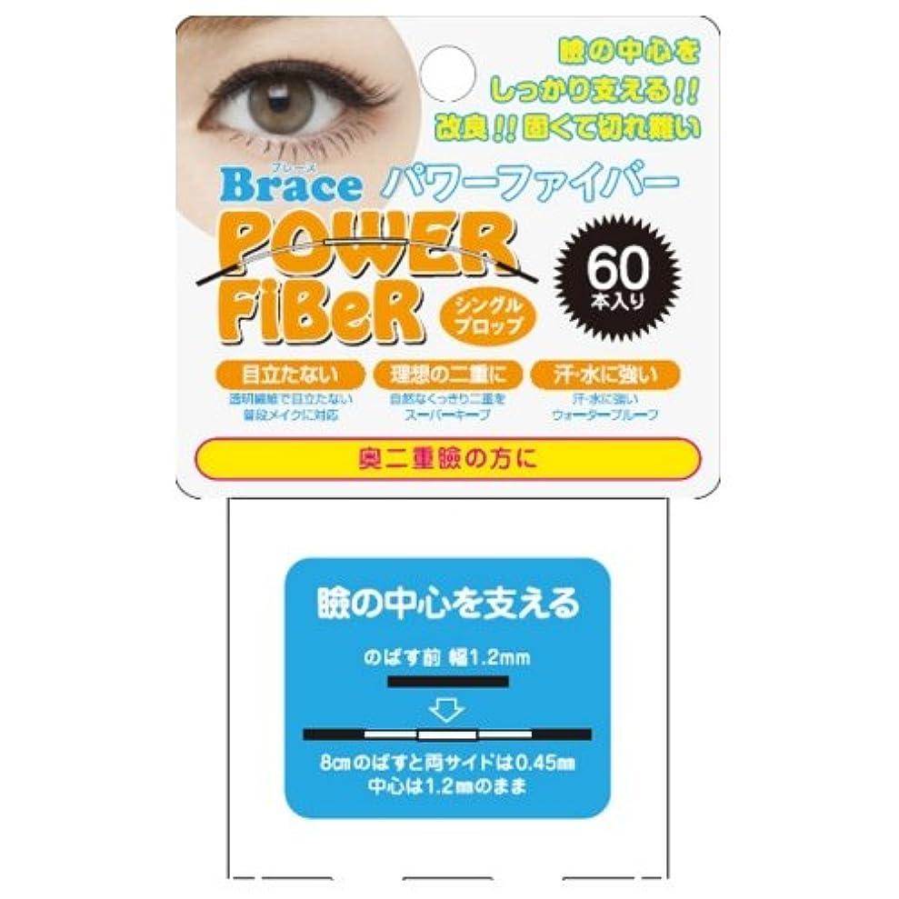 起こりやすい使役プロフェッショナルBrace 二重まぶた形成テープ パワーファイバー プロップ クリア 1.2mm 60本入