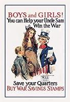 Buyenlarge 00142-9P2030少年少女 - 戦争貯蓄20x30ポスター