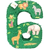 APINATA4U 大型 ナンバー 6ピニャータ動物園のテーマ