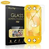 Nintendo Switch Lite ガラスフィルム HEYSTOP 3枚入り ニンテンドースイッチライト ガラスフィルム 液晶保護フィルム 貼り付け簡単 自動吸着 気泡ゼロ 指紋防止 高透明度 スムーズ操作 日本語説明書