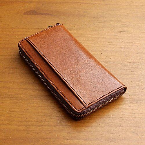 488430fb1bfa ホークカンパニー Hawk Company パケット Paquet 財布 長財布 ロング ウォレット ラウンドジップ デザイン レザー 本