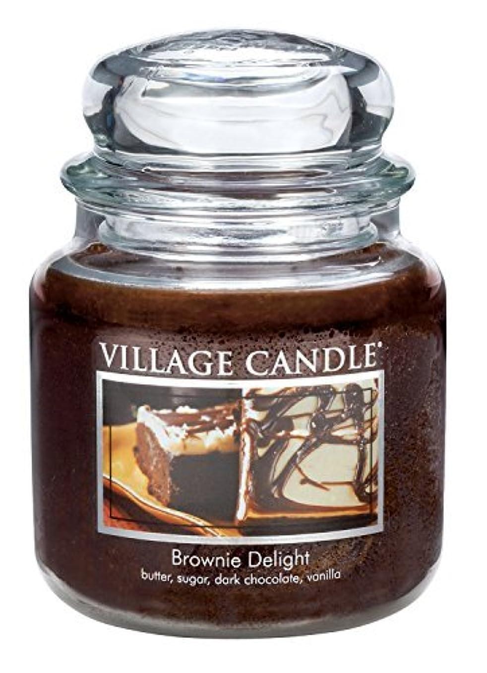 欲求不満文明化ユーザーVillage Candle Brownie Delight 16 oz Glass Jar Scented Candle Medium [並行輸入品]