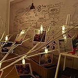 ストリングライト LEDライト Kukoyo 電池式 写真クリップライト 写真飾り DIY壁飾り 1.5m 10球 3モード 点滅 結婚式 パーティー ハロウィン クリスマス 新年会 結婚式 デコレーション 誕生日 プレゼント 照明飾り 部屋装飾 飾りライト 雰囲