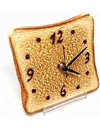 Real Gift トースト時計 sn04-3001 アナログ 置き時計 置時計 おき時計 ステップ 食品サンプル時計