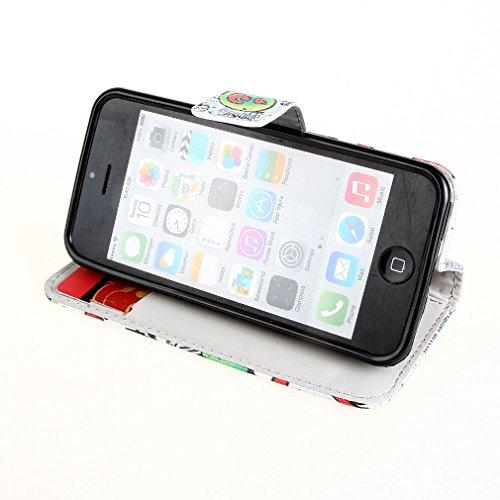 "『ivencase Apple iphone 5C 専用 PU 手帳型レザーケース HAHA + ""ivencase"" 防塵プラグ』の2枚目の画像"