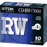 TDK CD-RWデータ用700MB 4倍速5mm厚ケース入り10枚パック [CD-RW80X10S]