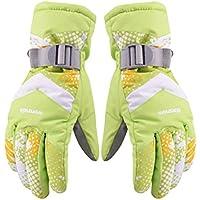cold-proofスキー/サイクリング用手袋冬、グリーン暖かい防風スポーツ手袋