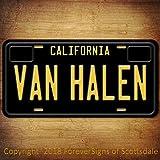 Van Halen Rock BandカリフォルニアアルミニウムVanityナンバープレートブラック
