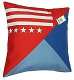 (ライフィーズ) Lifees クッションカバー 45×45cm 国旗 クッションケース ユニオンジャック 星条旗 フランス エッフェル塔 ダイヤ柄 (スター&ライン)