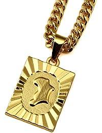 Nyukメンズアフリカマップ18 K亜鉛合金ゴールドネックレスチェーンジュエリーペンダントチェーンペンダントネックレス